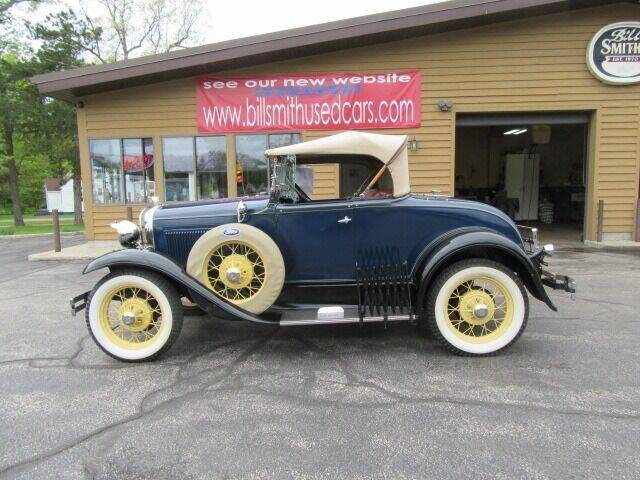 1931 Ford Model A Deluxe Roadster for sale at Bill Smith Used Cars in Muskegon MI