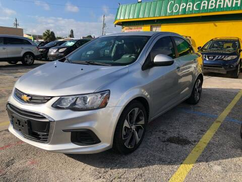 2017 Chevrolet Sonic for sale at Trans Copacabana Auto Sales in Hollywood FL