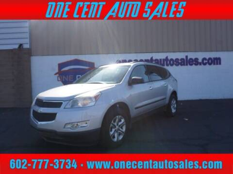 2012 Chevrolet Traverse for sale at One Cent Auto Sales in Glendale AZ