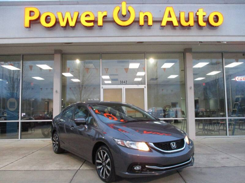 2015 Honda Civic for sale at Power On Auto LLC in Monroe NC