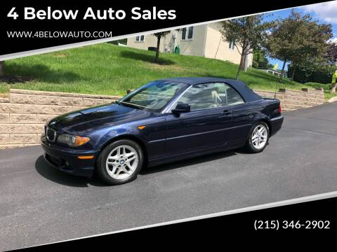 2004 BMW 3 Series for sale at 4 Below Auto Sales in Willow Grove PA