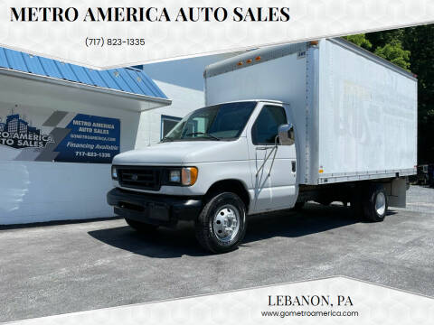 2003 Ford E-Series Chassis for sale at METRO AMERICA AUTO SALES of Lebanon in Lebanon PA