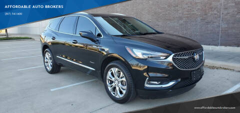 2018 Buick Enclave for sale at AFFORDABLE AUTO BROKERS in Keller TX