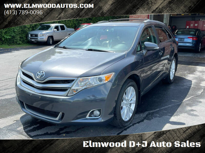 2013 Toyota Venza for sale at Elmwood D+J Auto Sales in Agawam MA