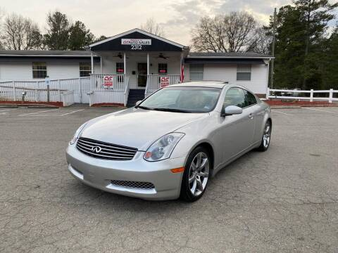 2003 Infiniti G35 for sale at CVC AUTO SALES in Durham NC
