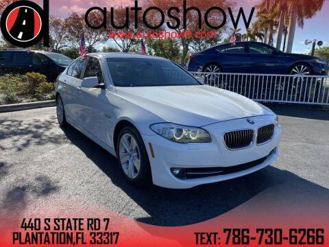 2013 BMW 5 Series for sale at AUTOSHOW SALES & SERVICE in Plantation FL