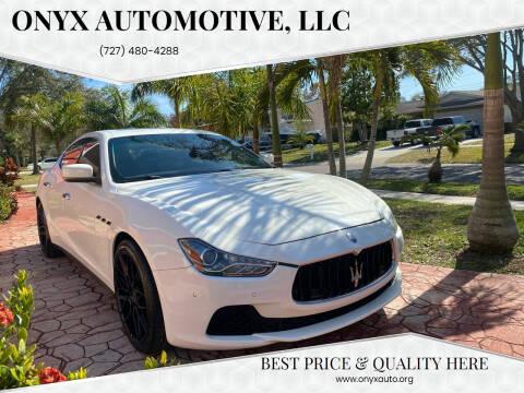 2016 Maserati Ghibli for sale at ONYX AUTOMOTIVE, LLC in Largo FL