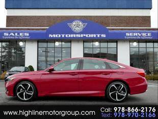 2018 Honda Accord for sale at Highline Group Motorsports in Lowell MA