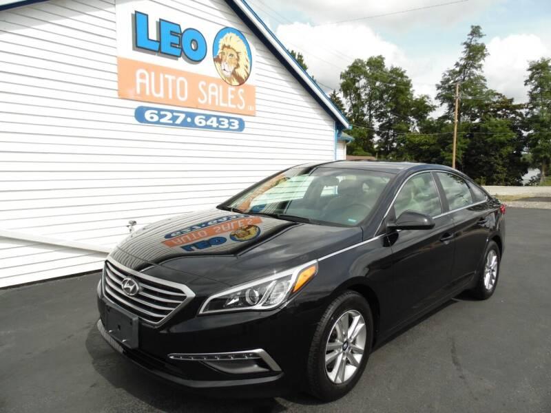 2015 Hyundai Sonata for sale at Leo Auto Sales in Leo IN