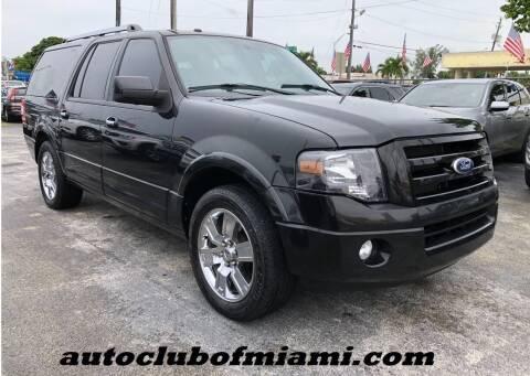 2010 Ford Expedition EL for sale at AUTO CLUB OF MIAMI, INC in Miami FL