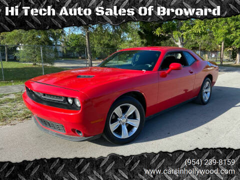 2016 Dodge Challenger for sale at Hi Tech Auto Sales Of Broward in Hollywood FL