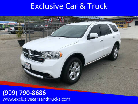 2013 Dodge Durango for sale at Exclusive Car & Truck in Yucaipa CA