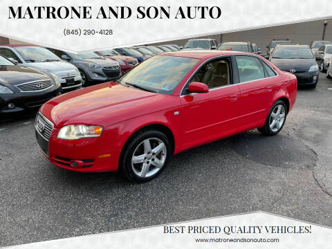2005 Audi A4 for sale at Matrone and Son Auto in Tallman NY