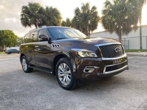 2017 Infiniti QX80 for sale at ELITE AUTO WORLD in Fort Lauderdale FL