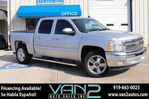 2012 Chevrolet Silverado 1500 for sale at Van 2 Auto Sales Inc in Siler City NC