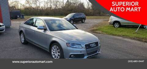 2009 Audi A4 for sale at SUPERIOR AUTO MART in Amelia OH