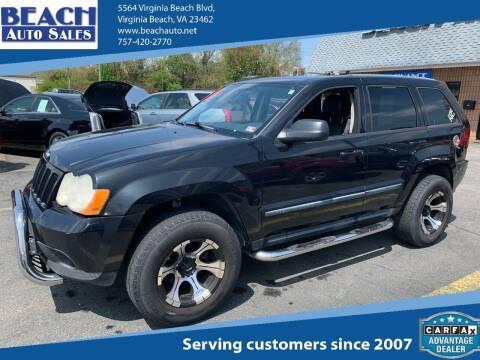 2008 Jeep Grand Cherokee for sale at Beach Auto Sales in Virginia Beach VA
