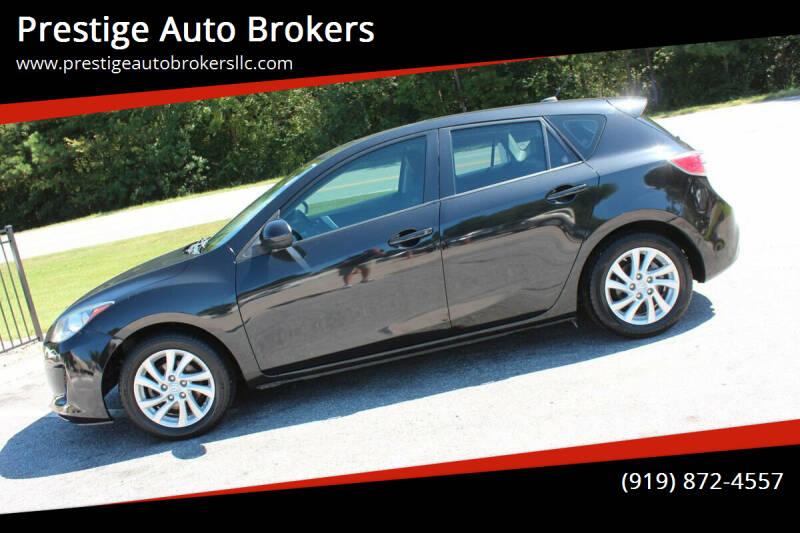 2012 Mazda MAZDA3 for sale at Prestige Auto Brokers in Raleigh NC