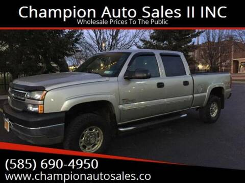 2005 Chevrolet Silverado 2500HD for sale at Champion Auto Sales II INC in Rochester NY