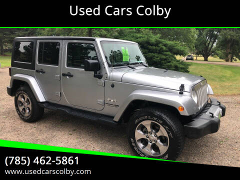 2018 Jeep Wrangler JK Unlimited for sale at Used Cars Colby in Colby KS