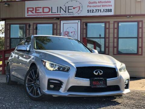 2016 Infiniti Q50 for sale at REDLINE AUTO SALES LLC in Cedar Creek TX