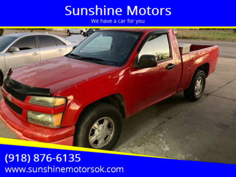 2007 Chevrolet Colorado for sale at Sunshine Motors in Bartlesville OK