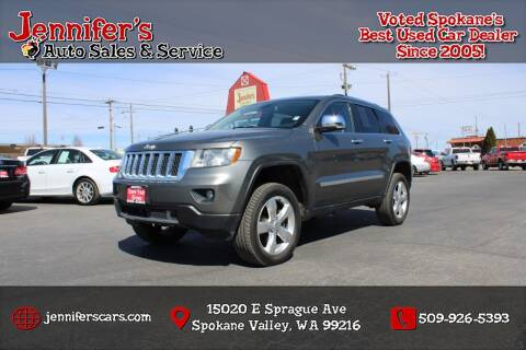 2013 Jeep Grand Cherokee for sale at Jennifer's Auto Sales in Spokane Valley WA