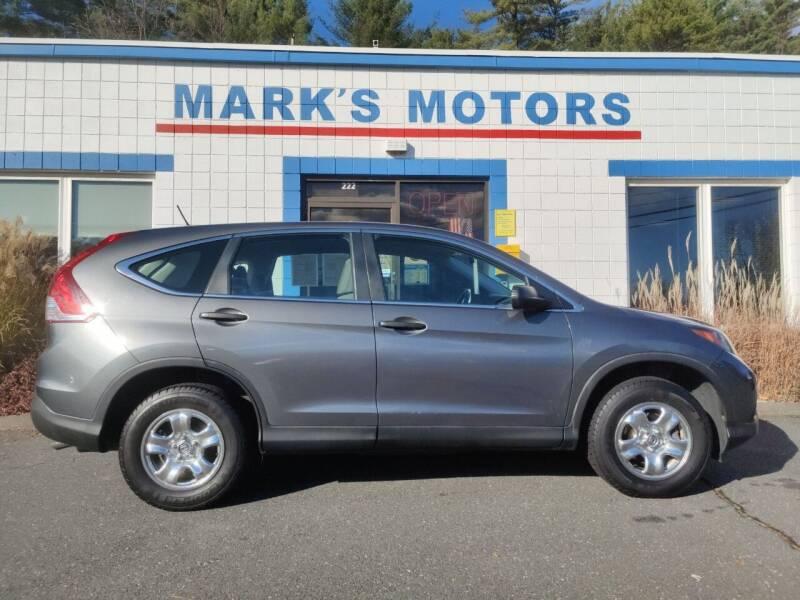 2014 Honda CR-V for sale at Mark's Motors in Northampton MA