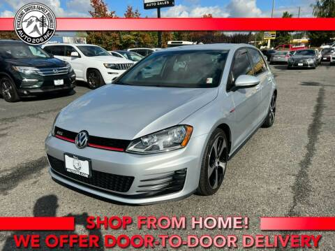 2016 Volkswagen Golf GTI for sale at Auto 206, Inc. in Kent WA