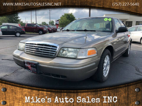 2004 Ford Crown Victoria for sale at Mike's Auto Sales INC in Chesapeake VA