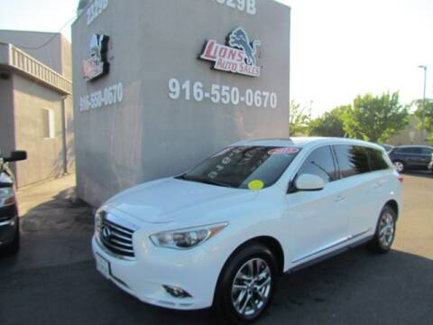 2013 Infiniti JX35 for sale at LIONS AUTO SALES in Sacramento CA