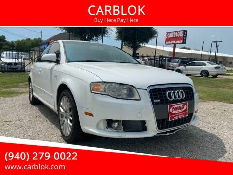 2008 Audi A4 for sale at CARBLOK in Lewisville TX