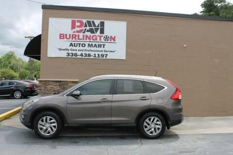 2015 Honda CR-V for sale at Burlington Auto Mart in Burlington NC