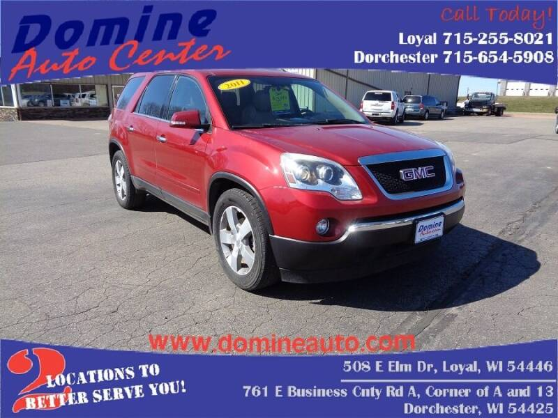 2012 GMC Acadia for sale at Domine Auto Center in Loyal WI