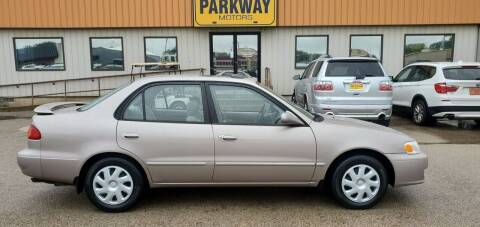 2001 Toyota Corolla for sale at Parkway Motors in Springfield IL