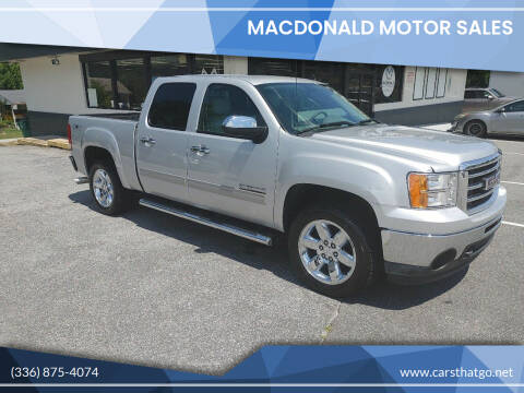 2013 GMC Sierra 1500 for sale at MacDonald Motor Sales in High Point NC