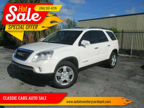 2008 GMC Acadia for sale at Quality Motors Truck Center in Miami FL
