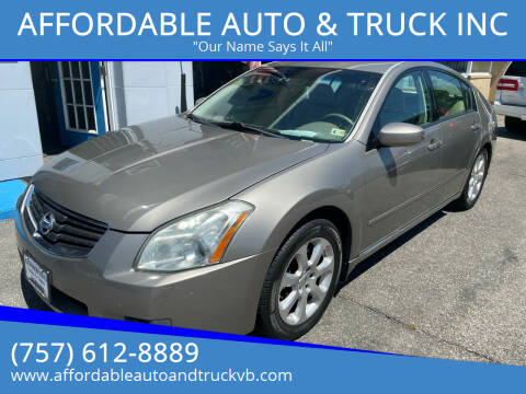 2008 Nissan Maxima for sale at AFFORDABLE AUTO & TRUCK INC in Virginia Beach VA