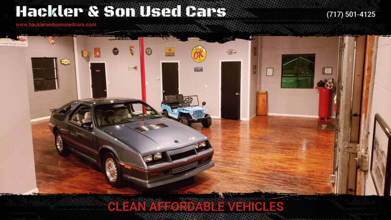 1986 Dodge Daytona for sale at Hackler & Son Used Cars in Red Lion PA