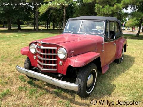 1949 Willys Jeepster for sale at MIDWAY AUTO SALES & CLASSIC CARS INC in Fort Smith AR