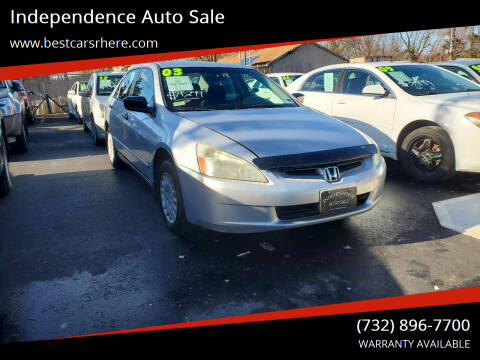2003 Honda Accord for sale at Independence Auto Sale in Bordentown NJ
