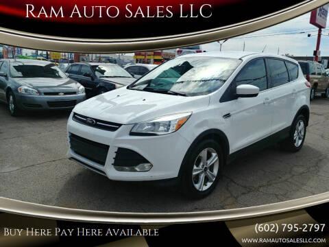 2013 Ford Escape for sale at Ram Auto Sales LLC in Phoenix AZ