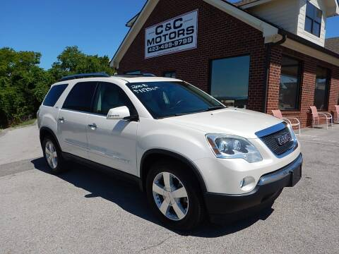 2008 GMC Acadia for sale at C & C MOTORS in Chattanooga TN