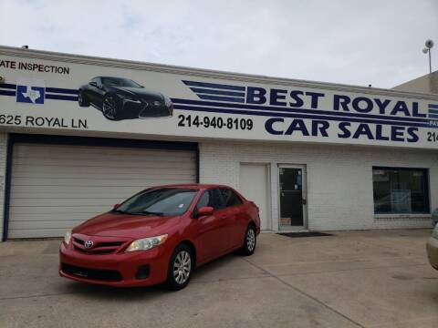 2012 Toyota Corolla for sale at Best Royal Car Sales in Dallas TX