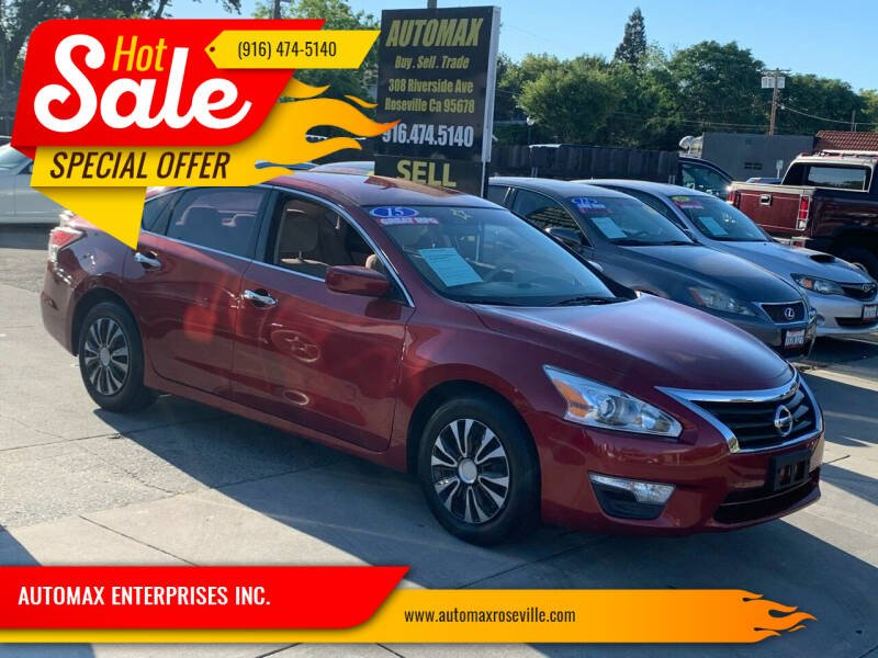 2015 Nissan Altima for sale at AUTOMAX ENTERPRISES INC. in Roseville CA