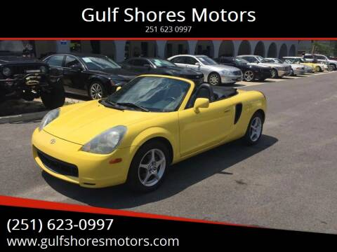 2001 Toyota MR2 Spyder for sale at Gulf Shores Motors in Gulf Shores AL