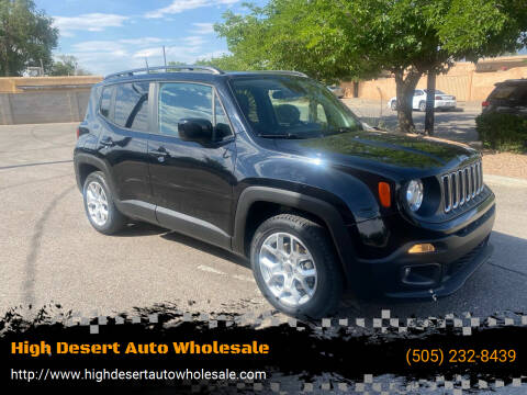 2018 Jeep Renegade for sale at High Desert Auto Wholesale in Albuquerque NM