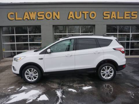 2018 Ford Escape for sale at Clawson Auto Sales in Clawson MI