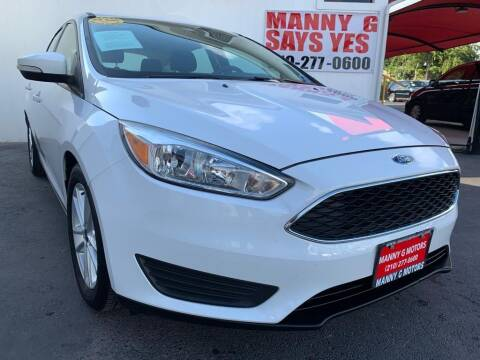 2016 Ford Focus for sale at Manny G Motors in San Antonio TX