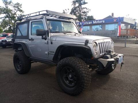 2017 Jeep Wrangler for sale at All American Motors in Tacoma WA